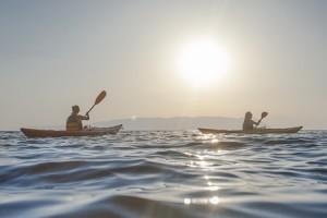 Kayaking Greece sunset trip
