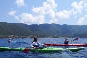 Kayaking along Skopelos