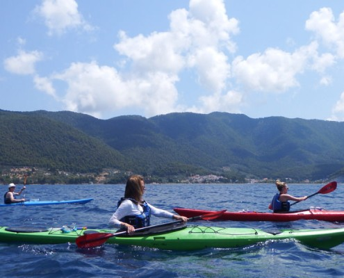 Kayaking along Skopelos