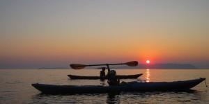 Kayaks and sunsets