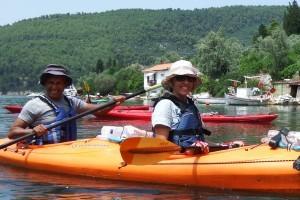 Kayaks exploring Panormos