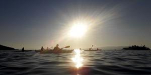 Sunset kayaking at Skopelos