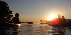 Sunset kayaking trip in Skopelos